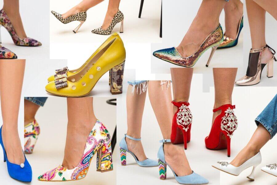 pantofi deosebiți și extravaganți în model original