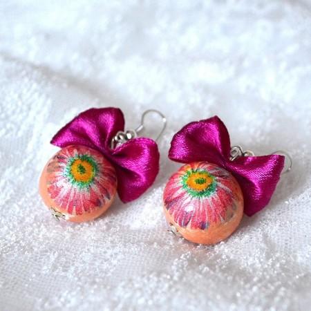 cercei-petals-fuchsia-joli bijou
