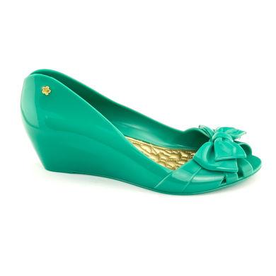 sandale verde mentă din cauciuc, de firmă