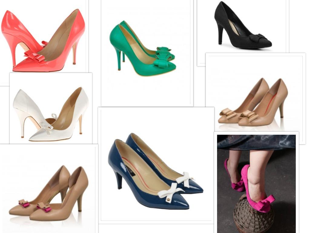 pantofi cu toc si fundite modele