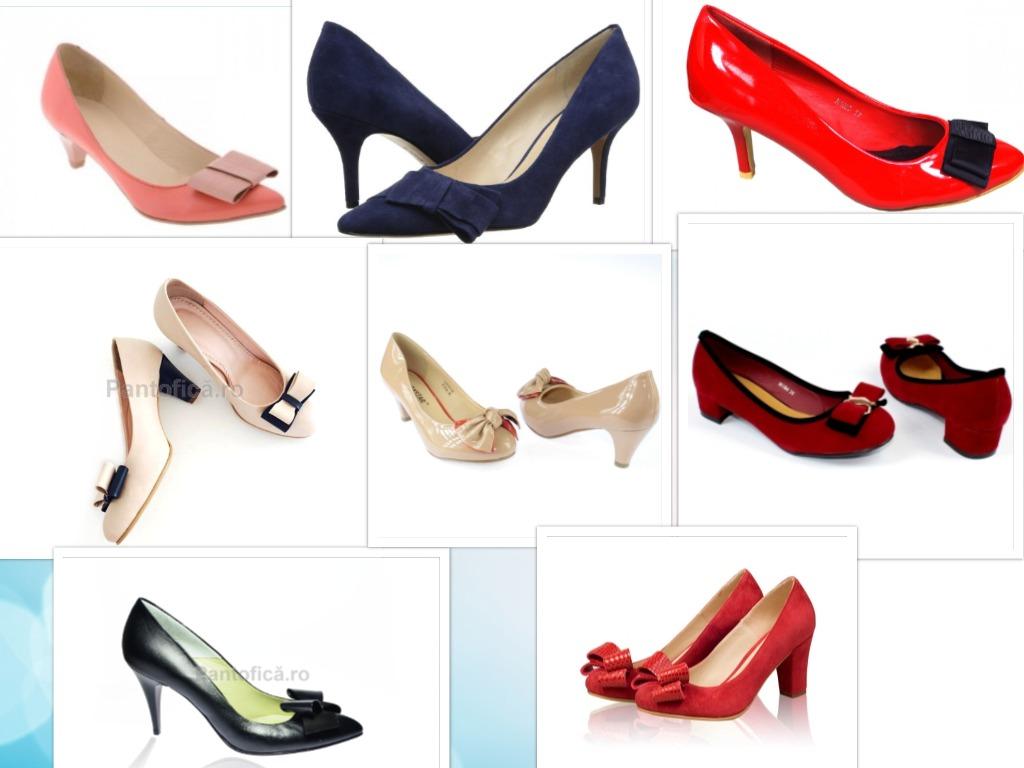 pantofi toc jos si fundite modele si culori diverse
