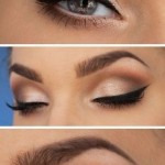 cum sa trasezi linie dreapta de tus sau eyeliner pentru un machiaj clasic, stilat, fin, cu codita