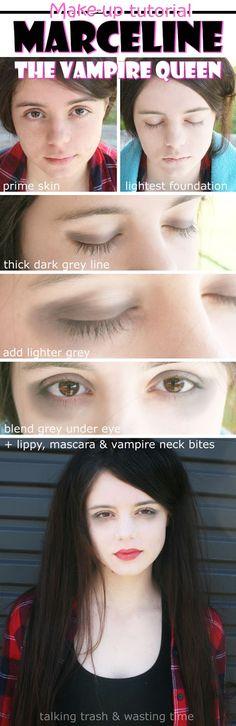 machiaj ten palid halloween pentru vampir