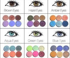 culorile ochilor și culori de farduri complementare