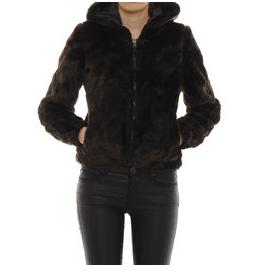 jacheta simpla scurta din blana neagra