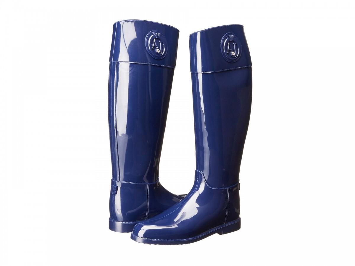 cizme de ploaie cauciuc navy, albastru inchis, de firma de la Armani Jeans