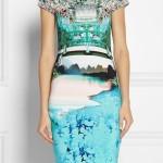 rochie cu imprimeu peisaj