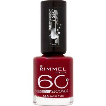 Lac de unghii Rimmel 60 Seconds- 320 Rapid Ruby