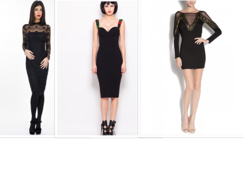 rochii negre de seara si club pentru revelion