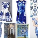 rochite albe imprimeu albastru regal