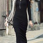 rochie lunga neagra casual
