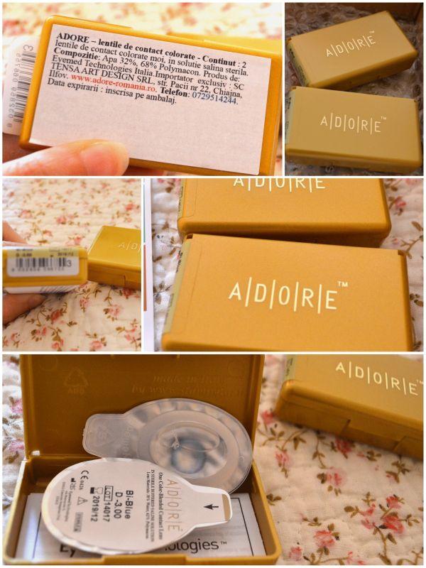 ambalaj original lentile de contact Adore Bi Tone Blue