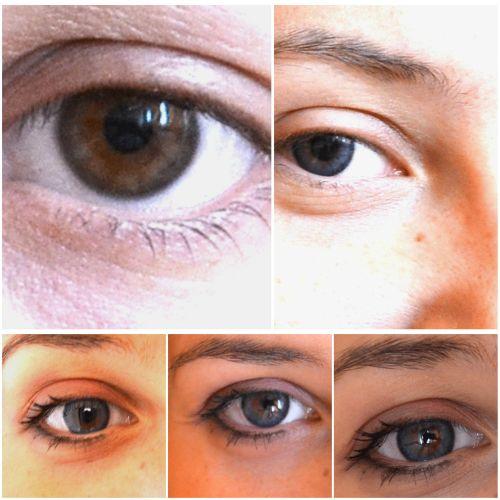 lentilele de contact Adore Be Tone nuanta Bi Blue pe ochi caprui naturali