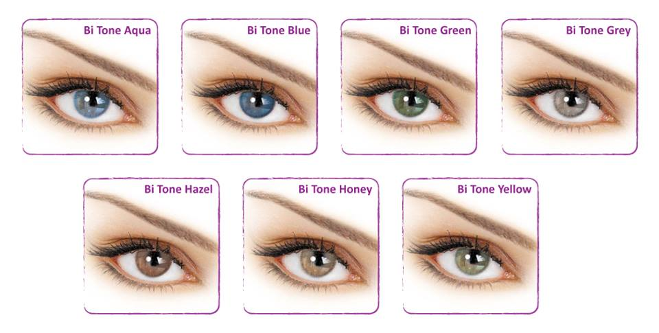 nuante lentile contact colorate Adore Bi Tone