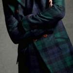 haina pentru barbati cu imprimeu in carouri tip tartan