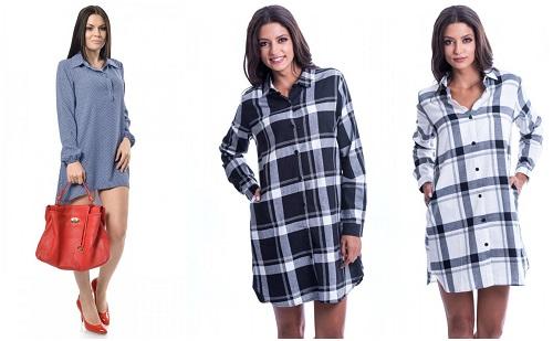rochie stil camasa cu imprimeu