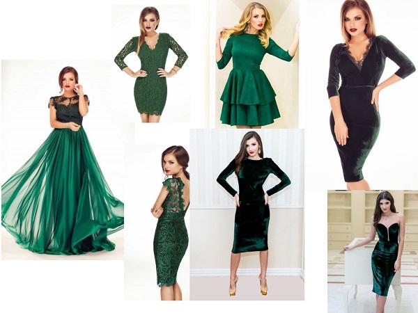 rochii verde regal