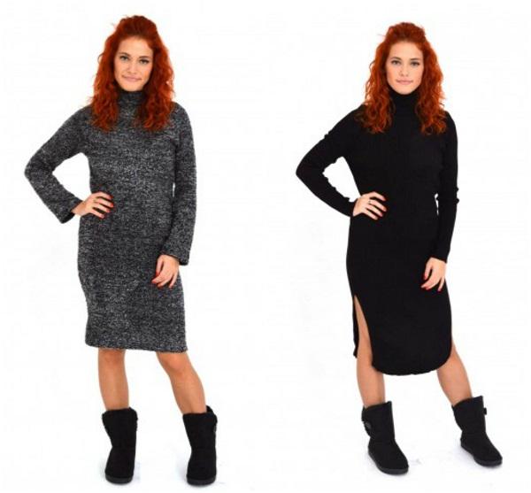 rochii lungi tricotate tip pulover
