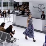 fashion_week_-_chanel_defilare de moda Chanel prezentare colectie primavara-vara 2016 decor aeroport Chanel 2016