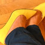 pantofi Zara galbeni cumparati online