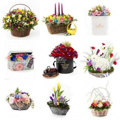 cosuri flori si cutii flori cu livrare personala