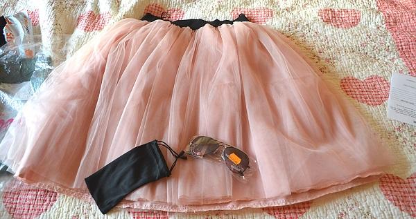 tutu ieftin online din tulle amplu roz nude