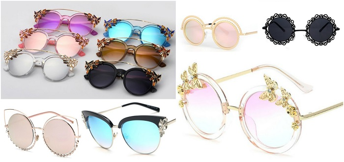 ochelari de soare cu rame decorate