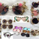 ochelari de soare cu rame decorative
