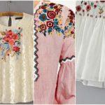 haine cu broderie florala