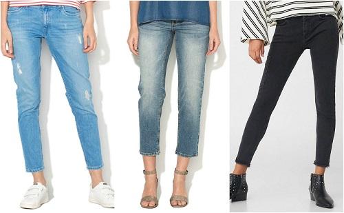 jeansi crop la moda