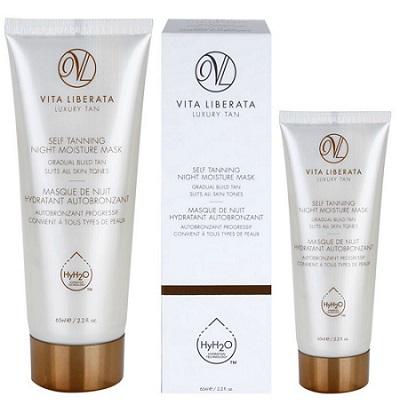 Mască de noapte autobronzantă și hidratantă Vita Liberata Skin Care