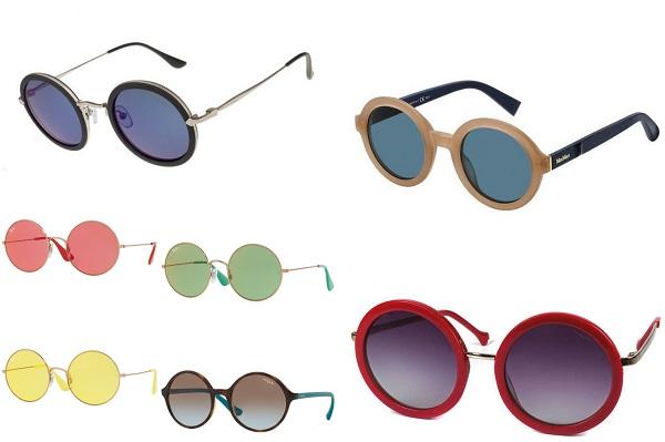 ochelari de soare rotunzi in stil anii 90