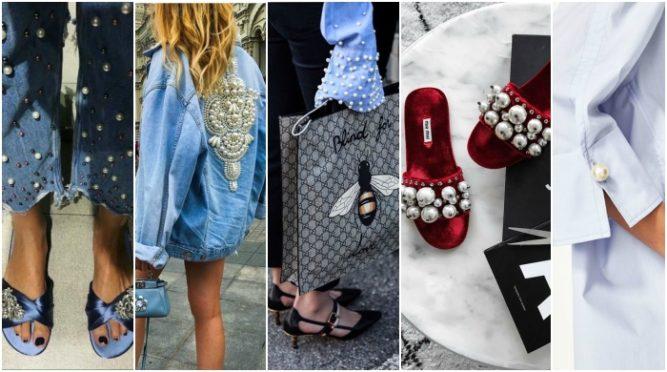 haine cu perle și pantofi cu perle la moda