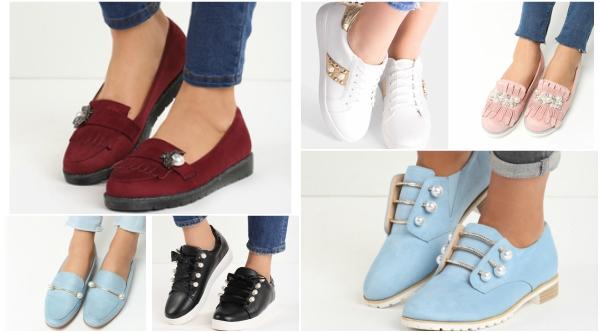 pantofi casual si sport cu perle