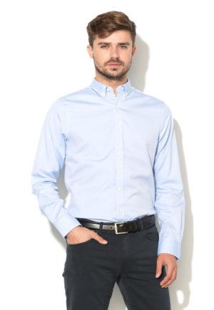 camasa eleganta barbati cu nasturi la guler