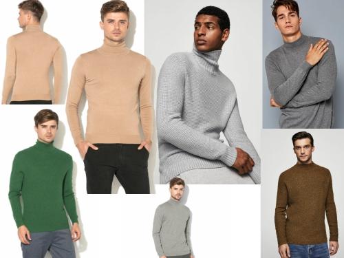 pulover pe gat helanca pentru barbati