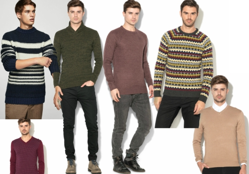 pulover tricotat pentru barbati