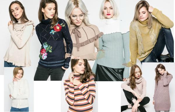 pulovere tricotat pe gat pentru femei