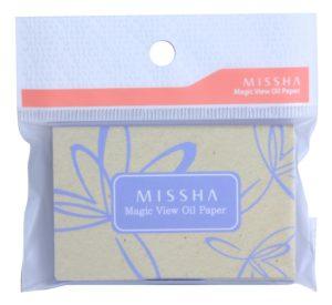 hartie tip servetele matifiante pentru fata Missha Magic View Oil Paper