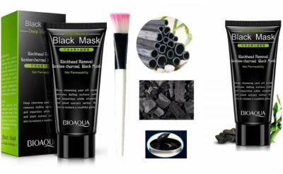 masca de fata coreeana BioAqua cu carbune impotriva punctelor negre