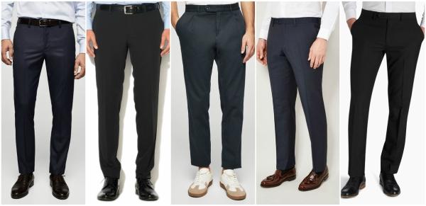 pantaloni office la dunga pentru barbati