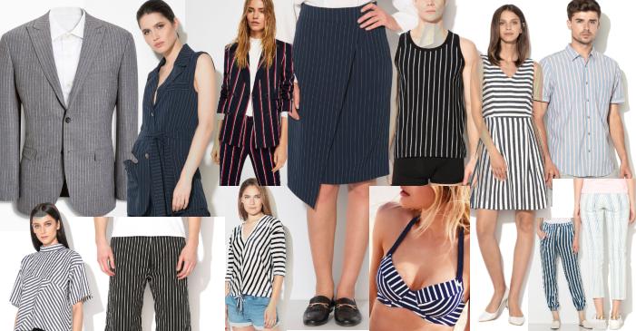 haine în dungi verticale pentru femei și bărbați