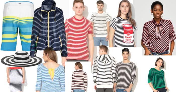 haine cu dungi orizontale pentru femei și bărbați