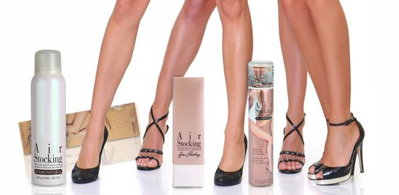 Dresuri tip spray AirStocking – make-up iluminator pentru picioare