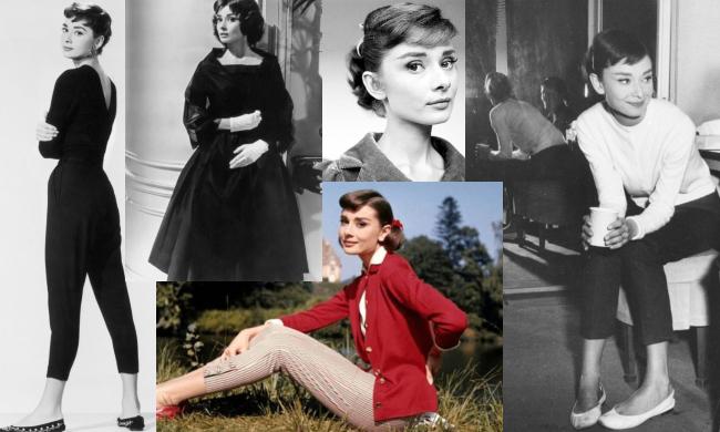 pantalonii Capri specifici stilului lui Audrey Hepburn