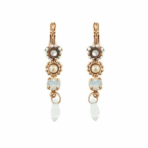 cercei lungi atârnători cu critale swarovski pietre semiprețioase perle placați cu aur 24k