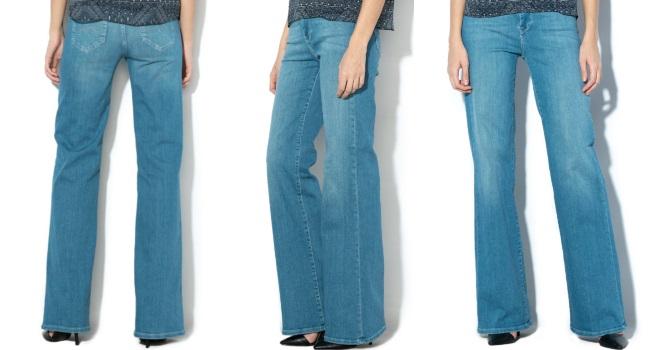 blugi cu talie înaltă evazați Pepe Jeans London