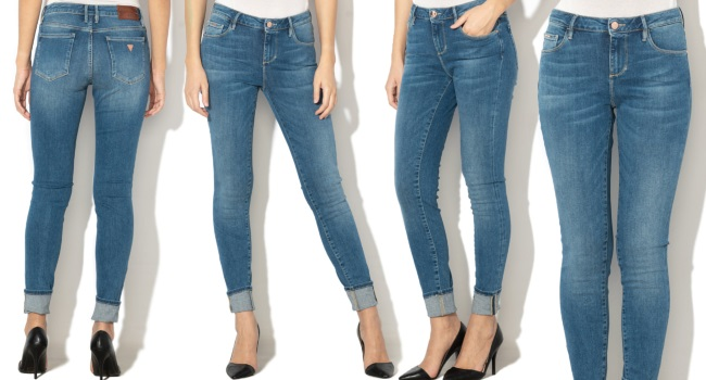 blugi slim fit skinny cu talie înaltă Guess Jeans