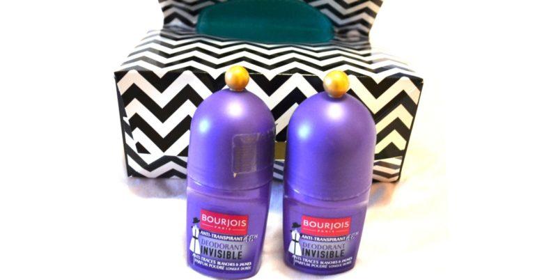 deodorant roll-on Bourjois Invisible fără urme albe sau galbene pe haine sau piele_review