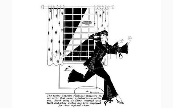 moda Zeppelin și pijamalele în timpul Primului Război Mondial